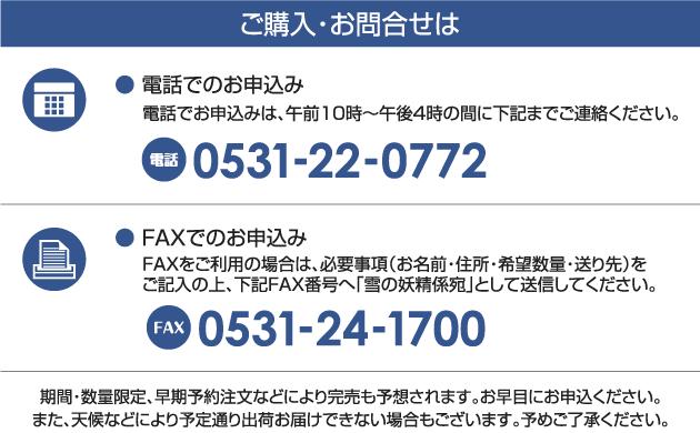 ご購入・お問い合わせ 電話0531-22-0772 FAX0531-24-1700