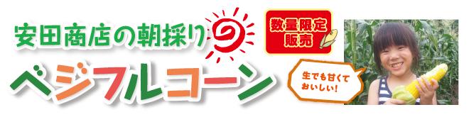 数量限定 安田商店の朝採りベジフルコーン